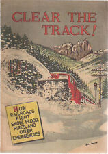 CLEAR THE TRACK! (1956) railroad promotional comic book VG+