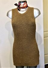 RALPH LAUREN Gold Linen Knit Tunic Dress / Tank Top Size M UK 10 12 EU 38 40
