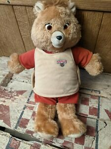 Teddy Ruxpin Doll 1985 - Worlds Of Wonder WOW - Cassette Included