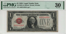 1928 $1 LEGAL TENDER PUERTO RICO NOTE FR.1500 PMG VERY FINE 30 (056A)
