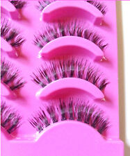 Fantastic 5x Natural Clear Band False Thick Eye Lashes Daily Eyelashes