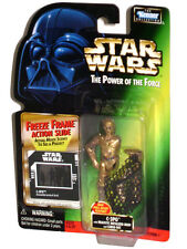 "STAR WARS POTF Freeze Frame C-3PO (Chrome) Pull-Apart Feature 4"" Figure SEALED"