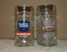 New listing Sam Adams Octoberfest Heavy Dimple Glass Beer Stein Mug Samuel Adams