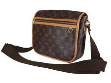 LOUIS VUITTON Bosphore PM Monogram Canvas Leather Crossbody Shoulder Bag LS3246
