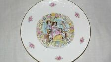 Royal Doulton My Valentine Day Cupid Angel & Couple Plate 1978 Roses Gold Edging