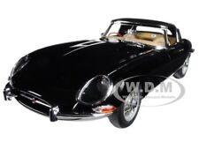 JAGUAR E TYPE ROADSTER BLACK SERIES 1 3.8 METAL WIRE WHEELS 1/18 AUTOART 73605