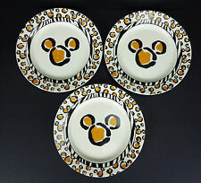 3 Disney's Animal Kingdom Sandwich Dessert Salad Plates Mickey Mouse