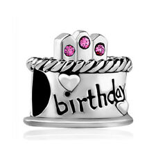 PUGSTER Happy Birthday Cake Charm Hot Pink October >NEW<