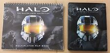 Halo Master Chief Raccolta Steelbook CASE + multiplayer libro di Carte Nuovo Gratis P&P