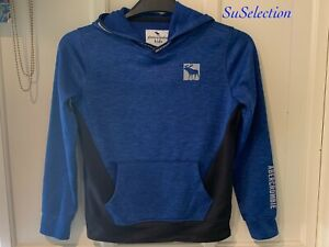 BOYS ABERCROMBIE & FITCH HOODIE SWEATSHIRT TOP- AGE 9/10 YEARS -EXCELLENT CON'D