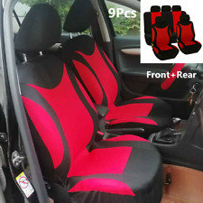 9Pcs Full Set Car Seat Cover Cushion Polyester Anti-slip Interior Accessories