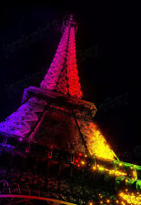 """/Night Eiffel Tower/Canvas Cityscapes Realism Medium(Up to 17"""")print 0.25""""border"""