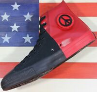 CONVERSE Chuck Taylor ALL-STAR HI SEEK PEACE SAMPLE Black/Red Shoe [166534F] - 9