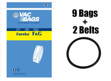 (9) F&G Upright Vacuum Bags + (2) Belts for Eureka Sanitiare Commercial