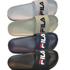 Mens Fila DRIFTER Comfort Sport Slides Sandals White Navy Black Cream