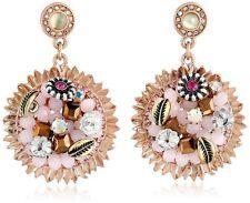 "AUTHENTIC Betsey Johnson ""Woven"" Flower Vintage Rose Earrings RETAIL $45"