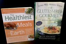 Lot Of 2 Books: Gluten Free Gourmet And. Healthiest Meals on Earth