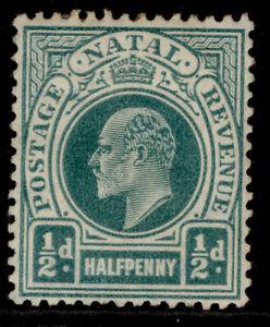 SOUTH AFRICA - Natal EDVII SG146, ½d blue-green, M MINT. Cat £12.