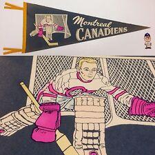 Vintage 1950's Montreal Canadiens 11.5x29.5 Vintage Pennant Nhl Hockey