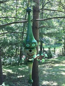 Hand-crafted 2 piece White Ash Hanging Wood Birdhouse #27