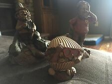 tom clark gnomes Crisp, Clark, and Coco. In good condition kept on a shelf