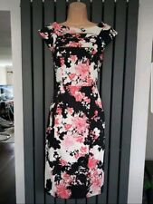 FCUK French Connection White Black Pink Dress size 8