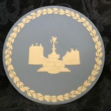 "Wedgewood Blue Christmas Plate Dated 1971- 8"" Diameter"
