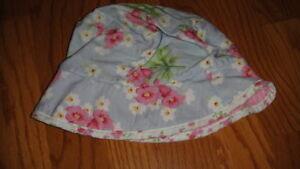 BOUTIQUE BABY LULU 2T-4T HAT  BLUE PINK FLORAL