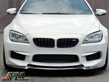 For 14-16 BMW F06 F12 F13 M6 Only V Type Carbon Fiber Front Bumper Add-on Lip