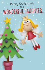 To A Wonderful Daughter Funny Christmas Greeting Card Humour Xmas Cards