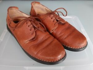 Herren Schuhe Clarks 46 Herrenschuhe braun cognac