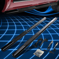 """Black Oval 4"""" Side Step Nerf Bar/Rail for 1988-2000 Chevy/GMC C/K Pickup Ext Cab"""