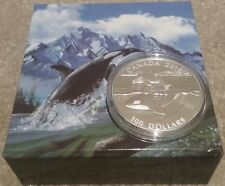 $100 2016 ORCA 1OZ Pure Silver Proof Coin Canada