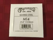 Martin - 12 Pack Of Silvered Steel .014 - 0.36mm Single Acoustic Strings M14