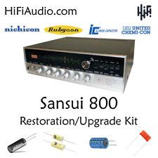 Sansui 800 rebuild restoration Capacitor Kit fix repair instructions capacitor