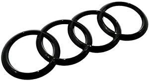 216x75mm BLACK Rear Back Badge Rings Logo Emblem Audi A6 Q3 Q5 Q7