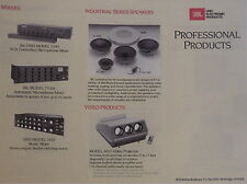 JBL 1986 PROFESSIONAL SERIES CATALOG 16 Pages