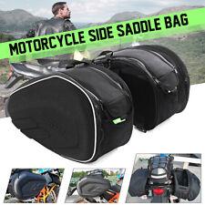 2pcs 36-58L Motorcycle Side Saddle Luggage Bag Helmet Waterproof With Rain  -