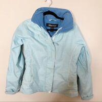 Marmot baby blue zip up ski winter women's jacket size S