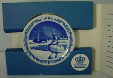 "Royal Copenhagen china Christmas Plaque plate Home For Christmas 3"" with Box"