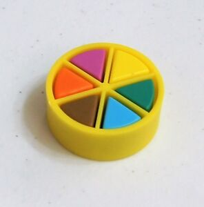 Trivial Pursuit Board Game Replacement Part YELLOW MOVER 6 Wedge Piece Pie Token