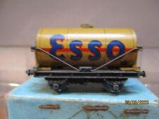 HORNBY DUBLO  PRE WAR D1 BUFF ESSO OIL TANKER IN BOX DATED 3-39