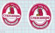 SPAIN - La Cruz del Campo,Sevilla - Cruzcampo Tipo Pilsen - beer labels C1355