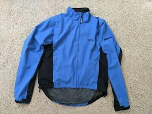 GORE BIKE WEAR Men's Jacket Medium Blue/Navy Gore Windstopper zip off sleeves