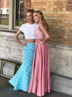 Sherri Hill Polka Dot Cute Mint Green Two-Piece Prom Dress Size 2
