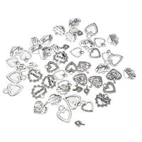 30pcs Mixed style Heart Charms- Jewellery Making Findings for DIY Craft K5Q5