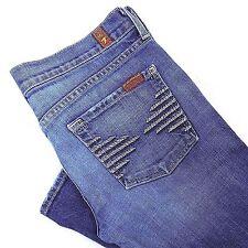 7 Seven For All Mankind Blue Jeans Size 31 Women's Bootcut Leg Colette Sz 31/33