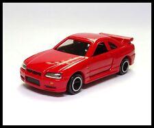 TOMICA 20 NISSAN SKYLINE GT-R R34 1/61 RED TOMY DIECAST CAR ( USED )