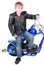 New Kids Leather Motorcycle Brando Biker Style Jacket Small