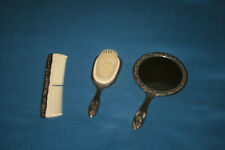 Vintage Silver Plated Mirror, Comb, and Brush Set